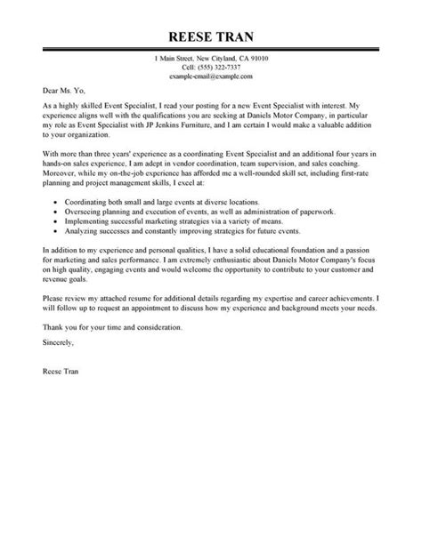 cover letter for communications specialist marketing communications specialist cover letter and