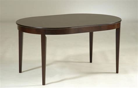 Oval Shaped Dark Walnut Rubberwood Dining Table Concord Oval Shaped Dining Tables
