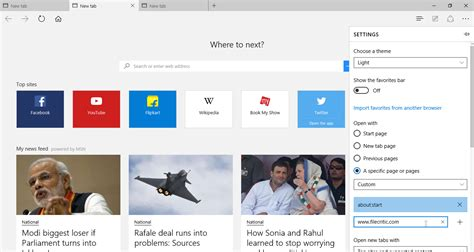Open Home Page by How To Customise The Start Page And The New Tab Page In