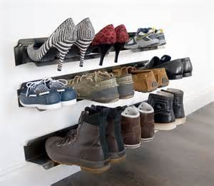 shelves large shoe rack and stainless steel on