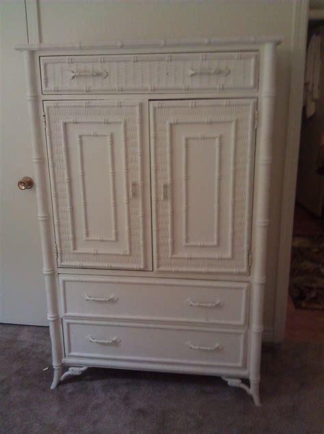 stanley armoire stanley furniture faux bamboo armoire scored on