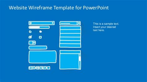 Slidemodel Com Website Wireframe Powerpoint Template Powerpoint Sitemap Template