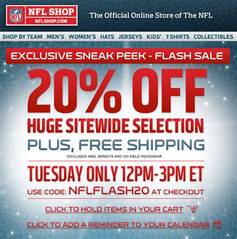 baby fans coupon code nfl shop flash sale enjoy 20 a sitewide