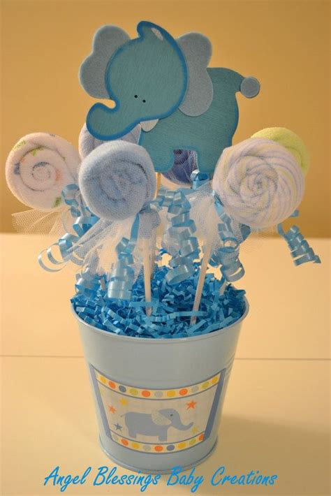Lollipop Centerpieces For Baby Shower by Baby Shower Washcloth Lollipop Centerpiece By