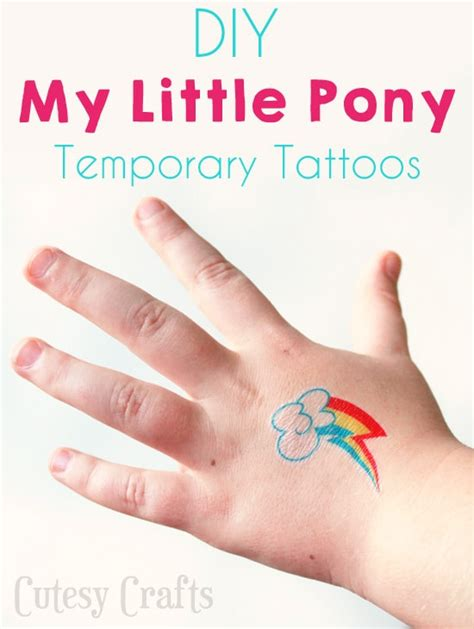 my little pony cutie mark tattoos temporary my pony tattoos cutesy crafts