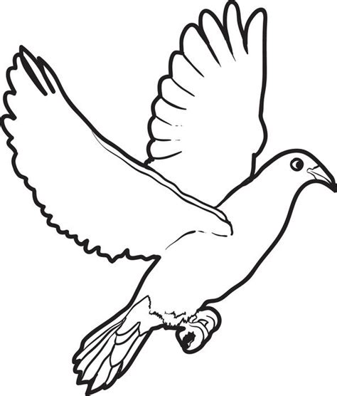 free printable dove coloring page for kids