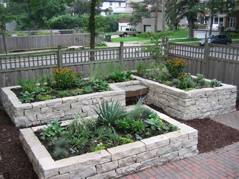 Raised Stone Garden Beds Raised Flower Bed To Save Space Raised Rock Garden Beds