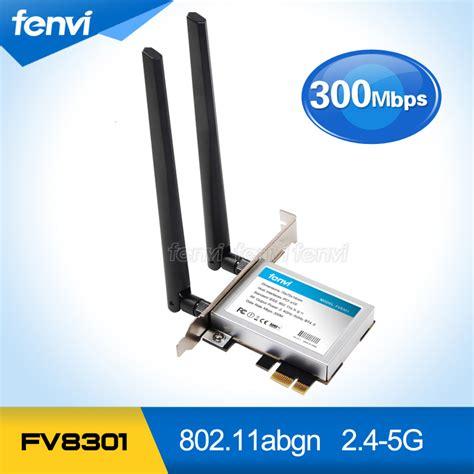 Wifi Card Komputer fenvi pc wifi pci e adapter 300m wifi antennas wireless