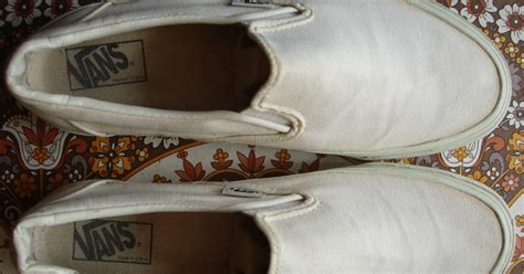 Vans Slip On Original Made In theothersideofthepillow vintage vans solid white white canvas slip on style 98 made in usa 90