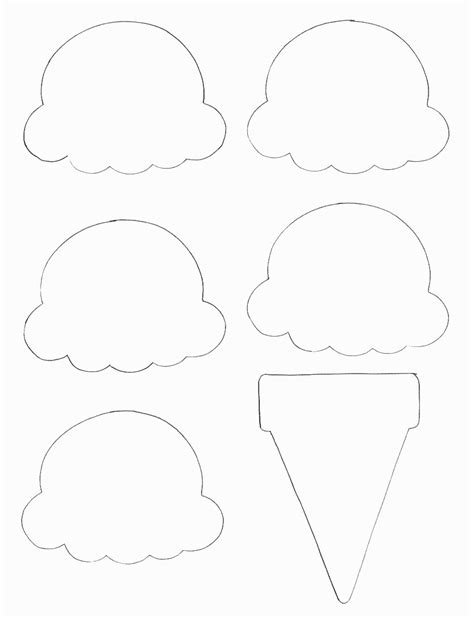 Empty Ice Cream Cone Coloring Page | empty ice cream cones coloring pages
