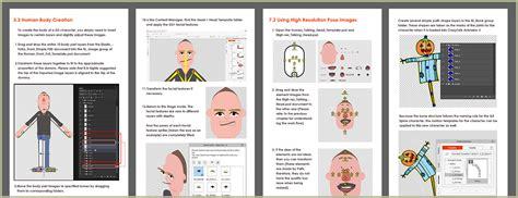 crazytalk templates psd character animation crazytalk animator 3