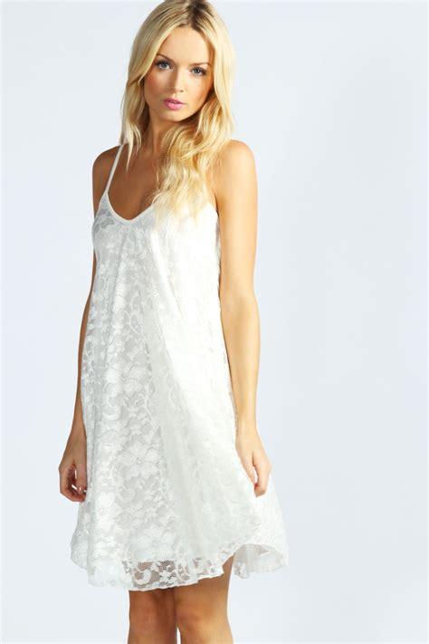 Boohoo Swing Dress boohoo nicola strappy lace swing dress ebay