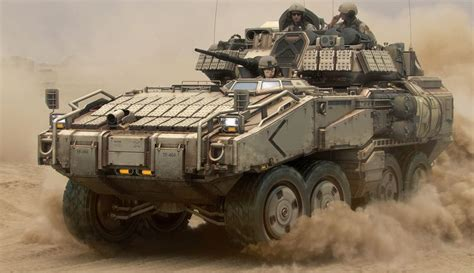 concept armored vehicle near future apc frank capezzuto iii on artstation at