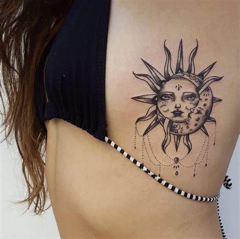 imagenes de sol y luna para tatuar tatuajes de sol y luna ideas originales para mujeres