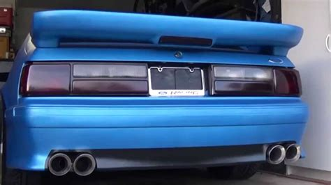 91 mustang lights 1991 mustang gt exhaust note and custom lights
