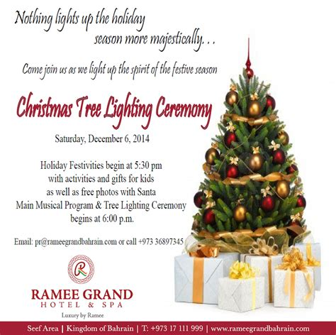 chrsitmas tree lighting at ramee grand hotel spa