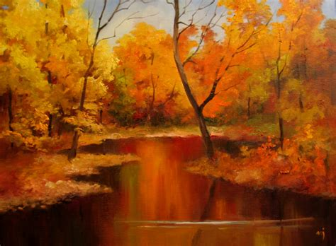 Landscape Pictures To Paint In Oils Nel S Everyday Painting Autumn Landscape Demo Sold