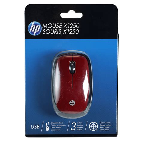 Mouse Hp Wired X1250 mouse hp optico usb rojo ktronix tienda