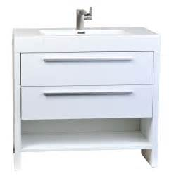 Buy mula 35 5 in modern bathroom vanity high gloss white rs l900 hgw