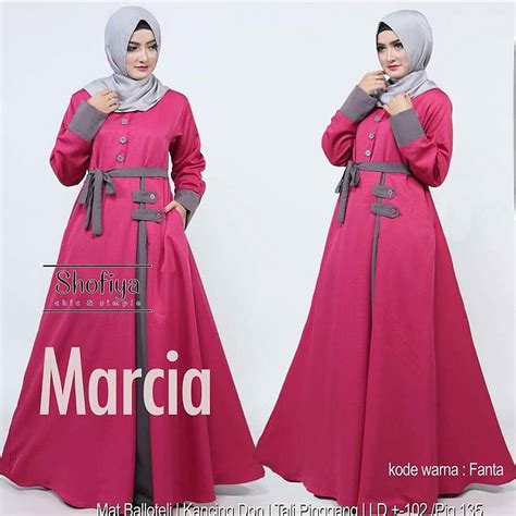 Baju Muslim Sizca Gamis jual baju gamis lebaran trendi dan modis marcia maxi fanta muslimodis