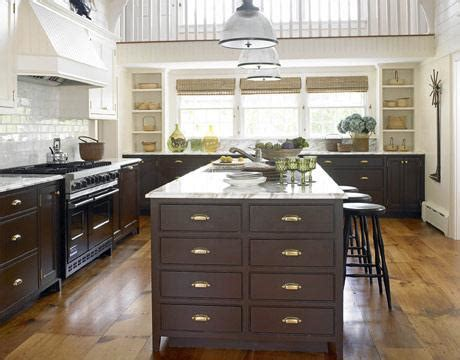 black brown kitchen cabinets brown kitchen cabinets cottage kitchen benjamin navajo white house beautiful