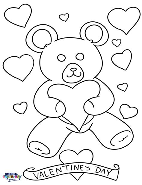 teddy bear valentine coloring page valentines day teddy bear coloring page coloring pages