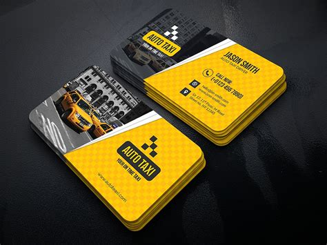 Auto Taxi by Auto Taxi Business Cards Business Card Templates