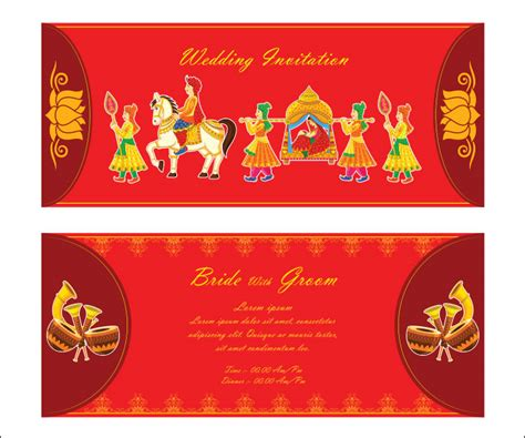 indian wedding invitation card design template 10 awesome indian wedding invitation templates you will