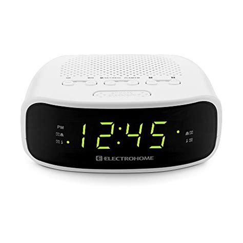 electrohome digital am fm clock radio w battery backup dual alarm snooze white ebay