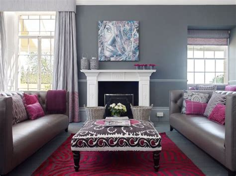 greyraspberry purple living room glamour living room