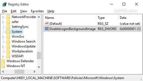 disable  change background image  windows
