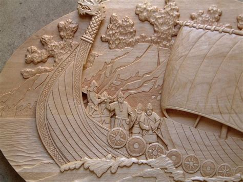 define wood relief carving