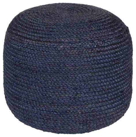 round blue ottoman contemporary tropics round navy blue pouf ottoman