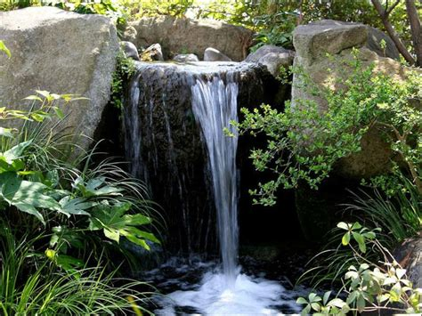 waterfall for backyard waterfalls striking complement to backyard layout