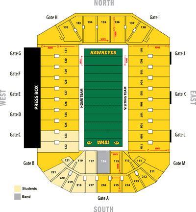 section 10b5 kinnick stadium seating chart iowa hawkeyes football