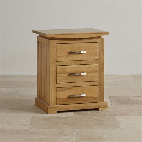 country oak bedside table 3 drawers realwoods tokyo 3 drawer bedside table in solid oak oak furniture land