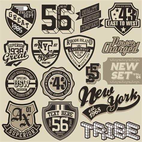 design t shirt labels vintage t shirt labels creative vector material 01