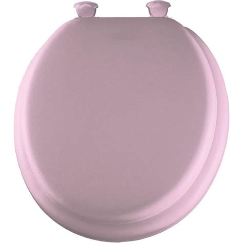soft toilet seat bemis mayfair 13ec 023 pink soft padded toilet seat with easy clean hinges ebay