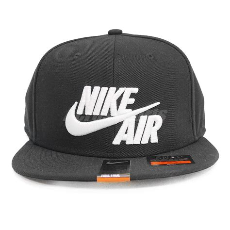 Topi Cap Hat Snapback Air Black nike air true black white mens big logo swoosh snapback hat cap 805063 010 886549120733 ebay