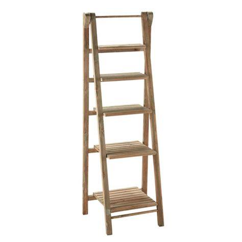 Wooden Ladder Shelf Furniture by Wooden Ladder Shelf Unit W 46cm Freeport Maisons Du Monde
