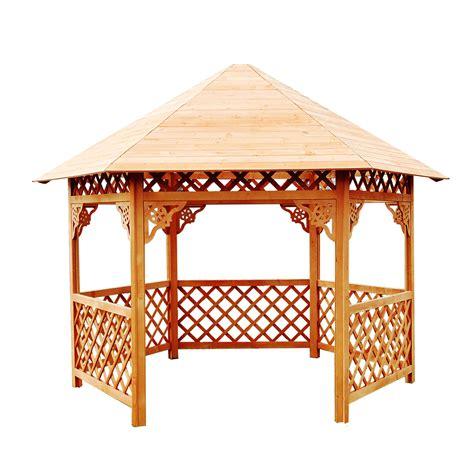 Pavillon 5x4 by Dedeman Pavilion Gradina Hexagonal Din Lemn 3 5 X 4 X 3 2