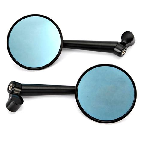 1 Pair 8mm 10mm Motorcycle Rearview Mirrors For Honda Yamaha Suzuki Ka a pair black motorcycle rearview mirror fits 8mm and