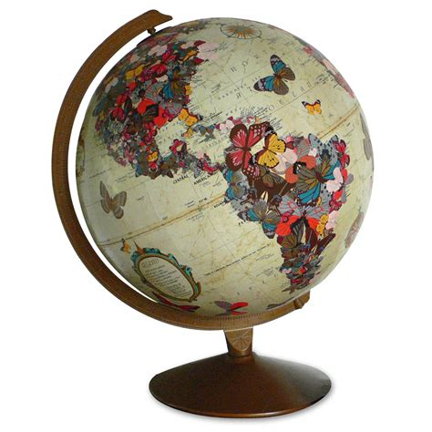 Handmade World - imaginenations quot flutter by quot vintage globe