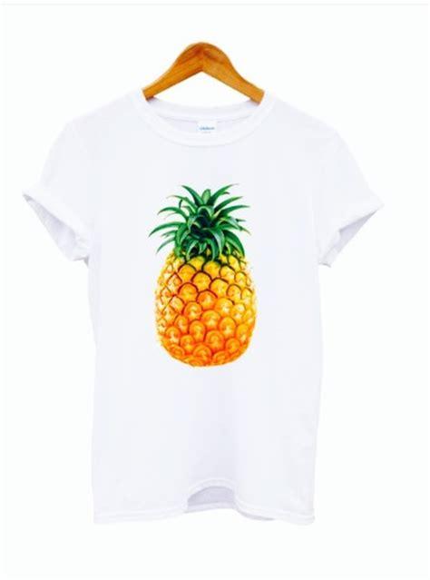 Print Fruit T Shirt t shirt vans pineapple print pineapple graphic