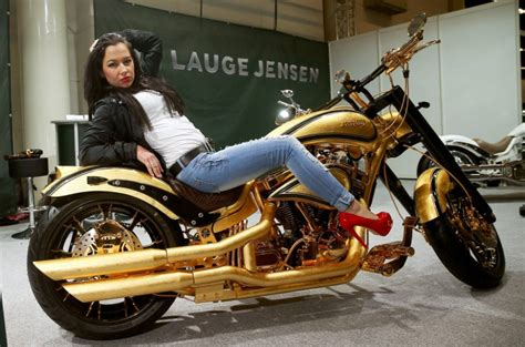 Y E Biker World by Gold Plated Harley Davidson From Lauge Jensen Will Cost