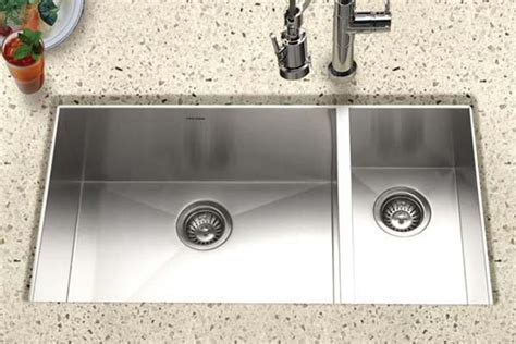 Houzer Stainless Steel Zero & Small Radius Kitchen Sinks