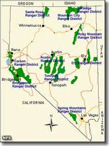 eastern district of california map humboldt toiyabe national forest