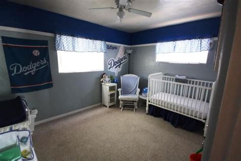 dodgers room dodger like the color of the walls baby room idea s pint
