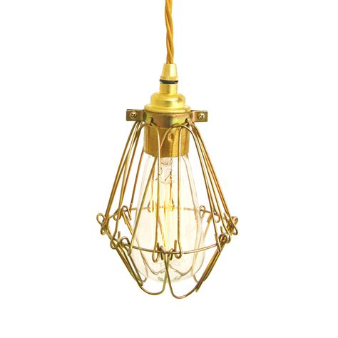 Buy Pendant Light Buy Mullan Praia Industrial Cage Pendant Light Gold Amara