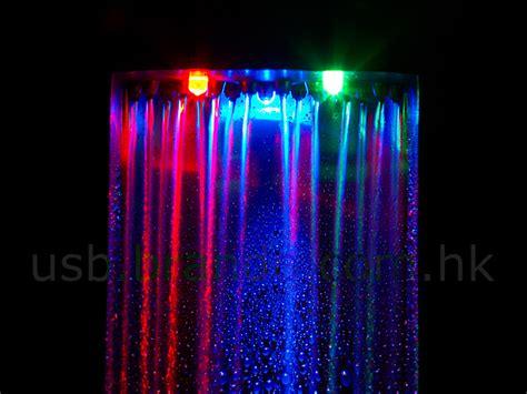 Usb Portable Led Desk L Humidifier 3 Level Brightnes T19 2 usb illuminated led waterfall cloud
